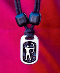 archer pewter sports pendant
