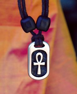 Metal Ice ankh pendant