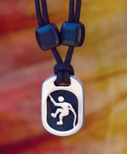 climber with rope pendant