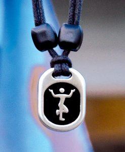 Metal Ice egyptian dancer pendant