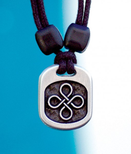 Metal Ice endless knot pendant