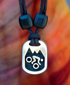 Metal Ice mountain biker pendant