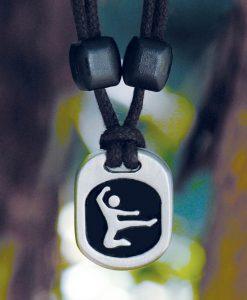 Metal Ice ninja pendant