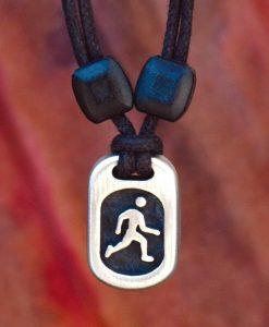 Metal Ice runner pendant