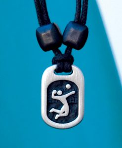 Metal Ice volleyball pendant