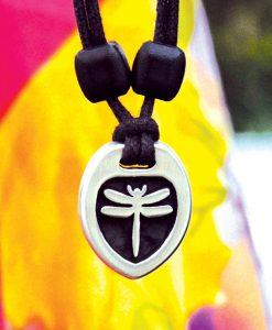 Metal Ice dragonfly pendant