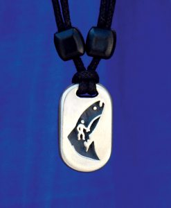 Metal Ice fisher pendant