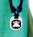Metal Ice frog pendant