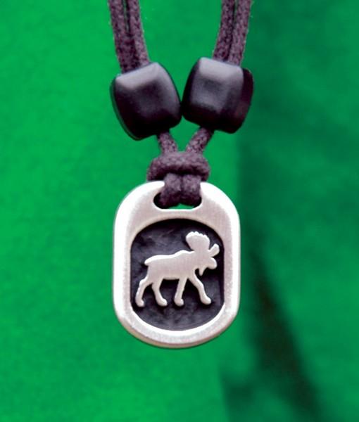 Metal Ice moose pendant