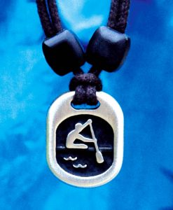 Metal ice paddler pendant