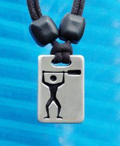 Metal ice paddler (standing) pendant