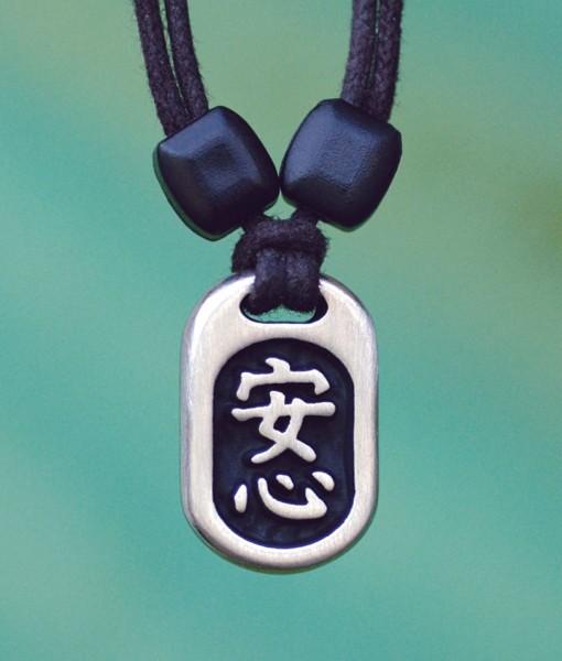 Metal Ice peace of mind pendant