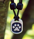 Metal Ice pet paw pendant