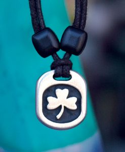 Metal Ice shamrock pendant