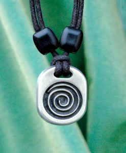 Metal Ice spiral pendant