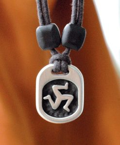 Metal Ice triskelion pendant