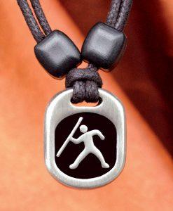 Metal Ice javelin pendant