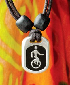 Metal Ice Unicycle pendant