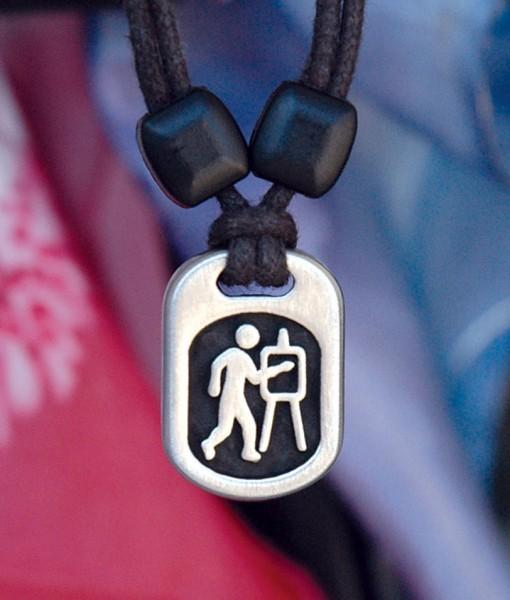 Metal Ic artist pendant