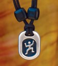 climber pewter pendant