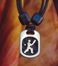 cricket pewter pendant