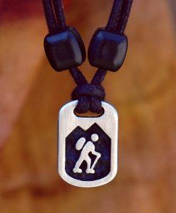 hiker pendant