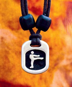 Metal Ice martial artist pendant