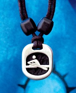 Metal Ice rower pendant
