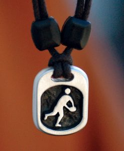 Metal Ice rugby pendant