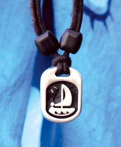 Metal Ice sailor pendant