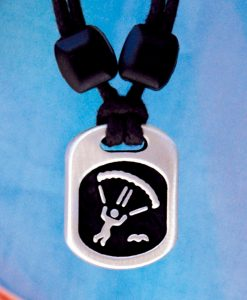 Metal Ice skydiver pendant
