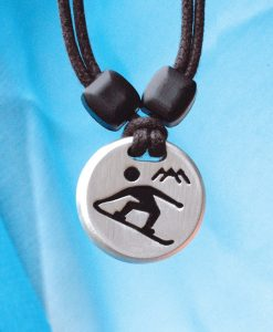 snowboarder pendant