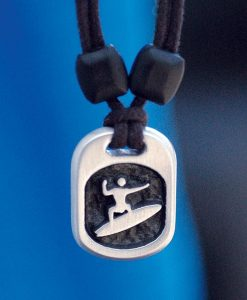Metal Ice surfer pendant