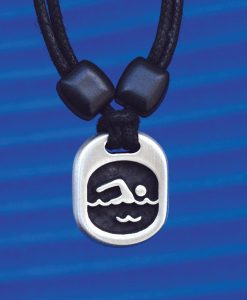Metal Ice swimmer pendant