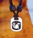 Metal Ice beaver pendant