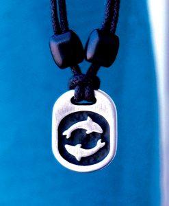 Metal Ice dolphins pendant