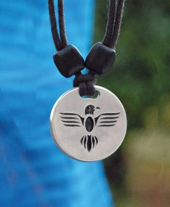 Metal Ice eagle pendant