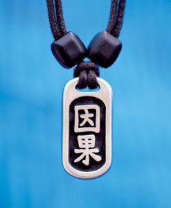 Metal Ice karma pendant