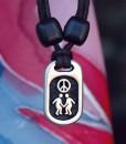 Metal Ice peace pendant
