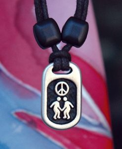 Metal Ice peace pendant