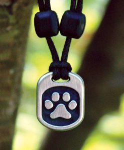 Metal Ice pet paw pendant