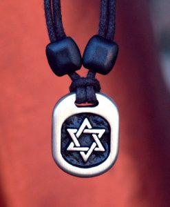 Metal Ice Star of David pendant
