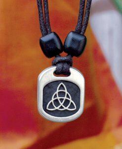 Metal Ice trinity knot pendant