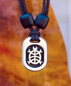 Metal Ice turtle pendant