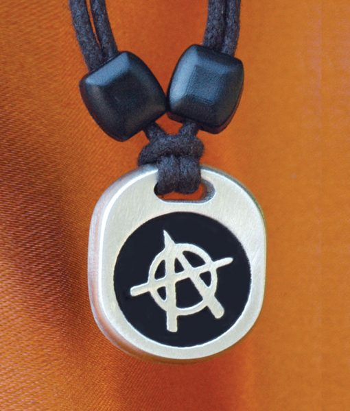 Metal Ice anarchist pendant