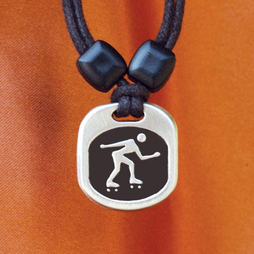 Roller Derby Metal Ice pendant