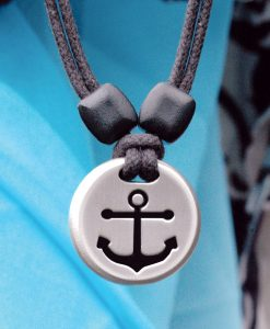 anchor pewter pendant