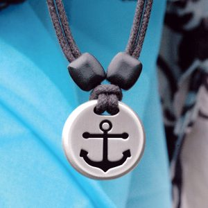 anchor pewter pendant