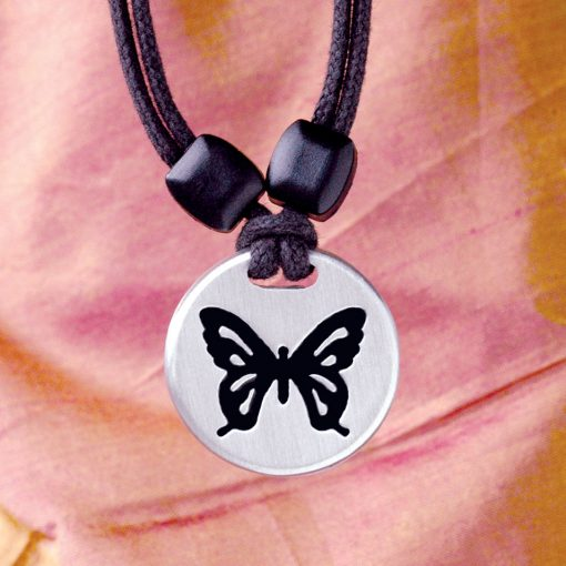Butterfly pewter pendant
