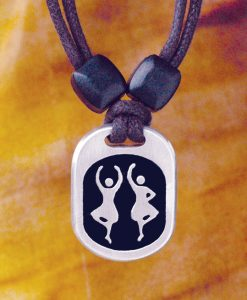Highland Dancers Pewter Pendant